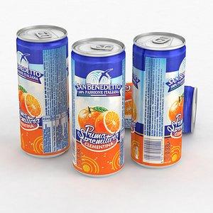 3D Beverage Can San Benedetto Prima Spremitura Clementina 330ml Tall 2021 model