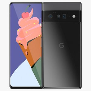 Google Pixel 6 pro Black 3D model