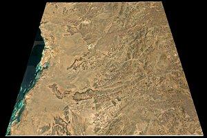 Mecca Red Sea n22 e39 topography Saudi Arabian model