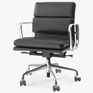 3D model Management Chair Black Leather