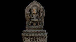 3D model Vishnu with 2 LOD - Nepal Heritage