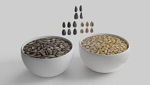 3D Sunflower seed