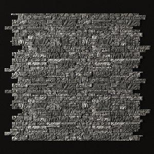 wall rock brick 3D model