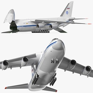 3D Antonov An124 100 Ruslan Aircraft Rigged