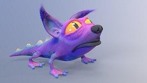 amphibian cat rig 3D model