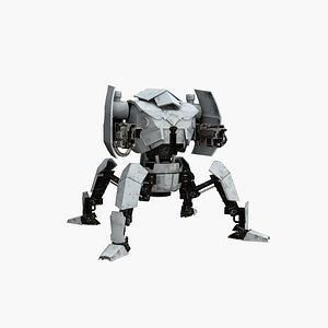 3D spider plasma robot model