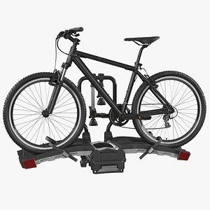 Hitch Bike Racks with Mountain Bike 3D model