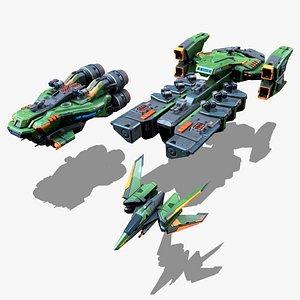 3D model RTS - Space Games Vol - 03
