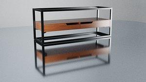 3D table futuristic model