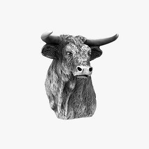 El Toro - Printable Bull Statue 3D model