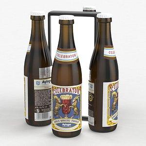 3D model beerbottle piwo