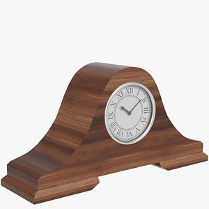 fireside clock 2 3d max