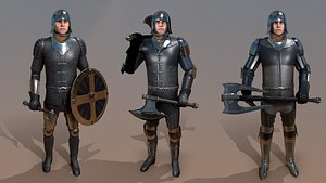3D knight male character