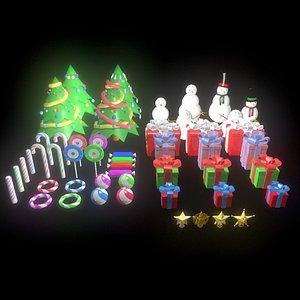 christmas snowman candy 3D model