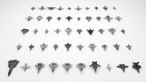 3D model Jet fighter collection
