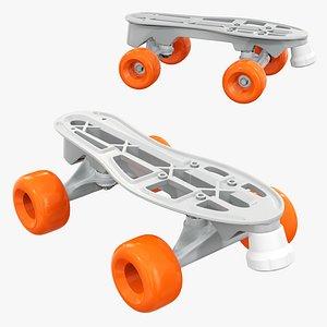 quad roller skates 3D