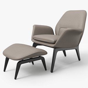 Lounge Chair Satin - PBR 3D