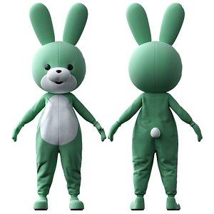 3D model rabbit costume