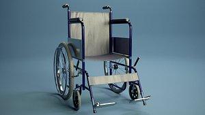 Medical wheelchair PBR 3D model