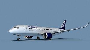 3D Bombardier CS100 Bombardier