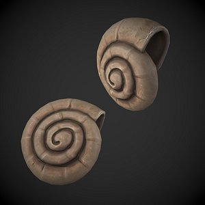 3D Ammonite Sea Shell model