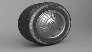 Classic Realistic Tire 2 3D model
