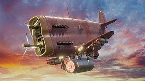 fantastic airplane 3D model
