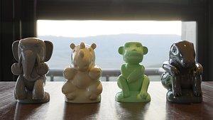 3D jumanji figures printing
