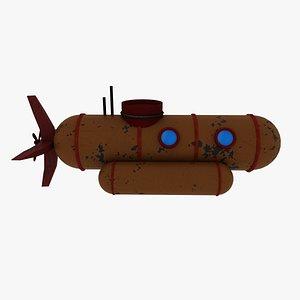 3D stylized submarine model