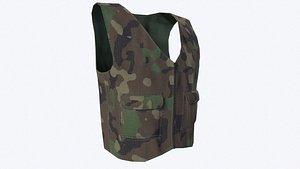 3D vest tactical model