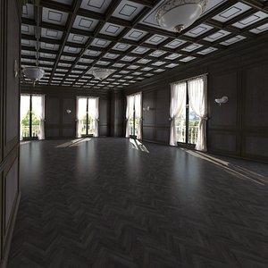 base office interior loft 3D model