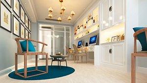 room home office 3D model
