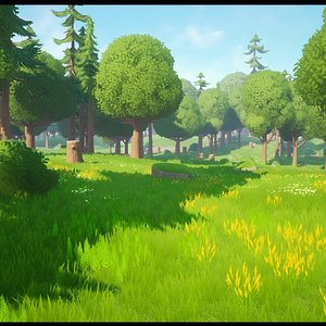 stylized forest 3D model