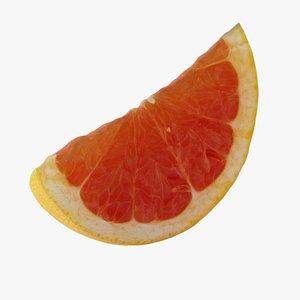 Pink Grapefruit 04 Slice 3D