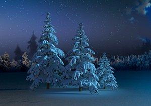 3D spruce winter model
