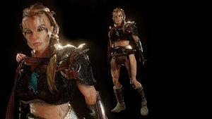 3D kravorm viking female warrior