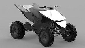Tesla Cyberquad ATV 2020 3D model