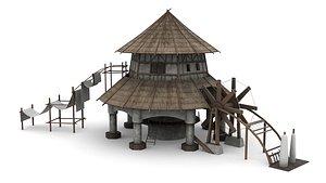 Fantasy Weaving Factory 3D model