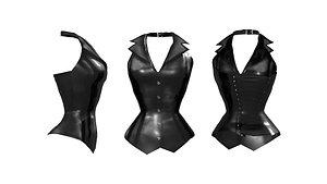 Leather Corset Vest model