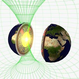 struttura interna della terra 3D