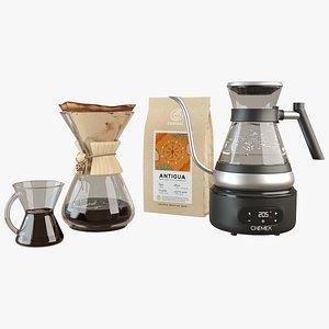 3D Chemex Coffee Maker - Chettle - Glass Mug
