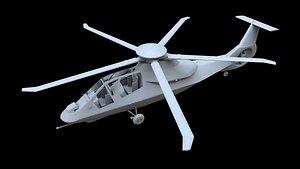 sikorsky rah-66a comanche 3D