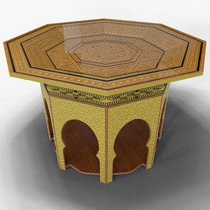 traditional octagon table 3D model