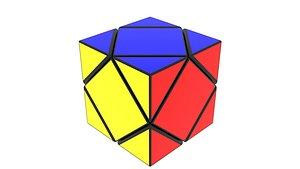 Skewb Puzzle 3D