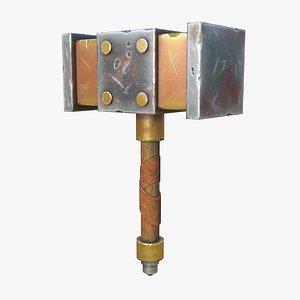 metal hand hammer 3D model