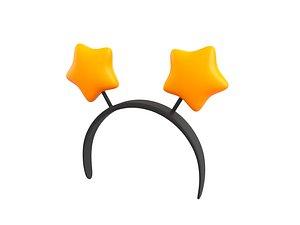 3D Prop028 Star Headband