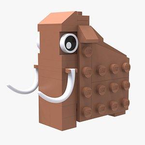 3D model Lego Mammoth Animal