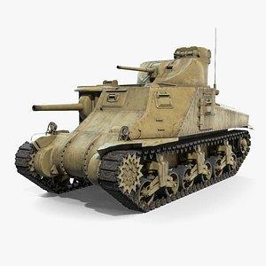 3D M3 Lee US Medium Tank model