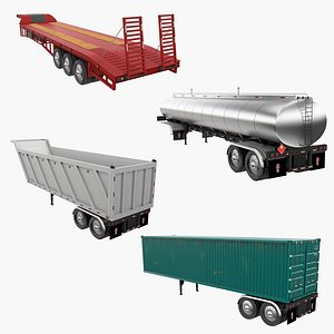 Trailers Collection 2 3D model