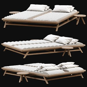 chaise lounge double 3D model